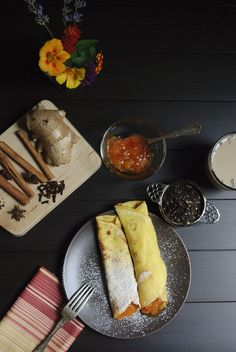 Mango chutney filled with a hint of cinnamon and ginger crepes with chai tea elegantly inspired by The Hundred-Foot Journey Movie – In Theaters August 8th  Photography: Kristin Holt Photography / Figs and Cream