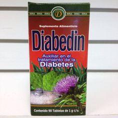 Tabletas Diabedin, para auxiliar en el tratamiento de la diabetes.