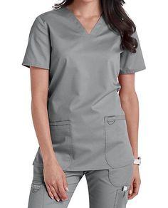 Cherokee Workwear Revolution V-Neck Scrub Tops Scrub Tops, Workwear, V Neck Tops, Cherokee, Stretch Fabric, Scrubs, Revolution, Nursing