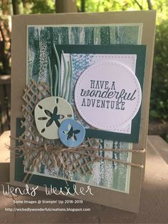 Stampin' Up! sea of textures Card Making Inspiration, Making Ideas, Inspiration Cards, Octopus Card, Sea Texture, Nautical Cards, Beach Cards, Stampin Up Catalog, Scrapbook Cards