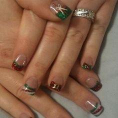 Christmas acrylic nail art