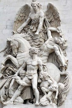 Detail from the Arc de Triomphe, Paris//