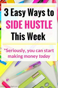 If you want to make extra money, you need to side hustle. I'm sharing three ways you can side hustle and make money today. These side hustle ideas are totally legit and I walk you through with tutorials on how to make money. All of these side hustles will help you start making money now!