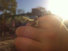 anel origami em prata - 4