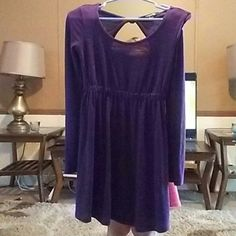 Forever 21 purple dress Used forever 21 purple dress size small Dresses Long Sleeve