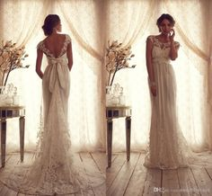 Today's post is all about Anna Campbell! Check out her incredible designs! Check out her site for more gorgeous gowns! Anna Campbell's… Vestidos Vintage, Vintage Style Wedding Dresses, Wedding Styles, Dress Vintage, Wedding Vintage, Trendy Wedding, Casual Wedding, Edwardian Wedding Dresses, Handmade Wedding