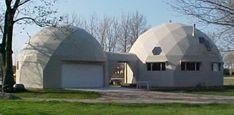 EconOdome Kits : 38.5' diameter 2-Story Dome Home with 30' diameter garage + loft.