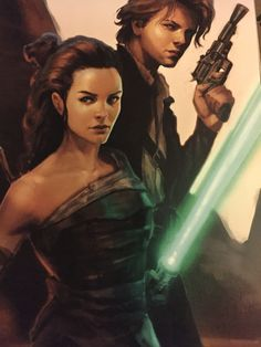 """Early concept art for young protagonists """"Kira and Sam"""" who later became """"Rey and Finn"""" for """"Star Wars Episode VII The Force Awakens""""."""