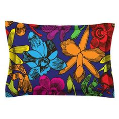 East Urban Home Lovely Orchids by Yenty Jap Pillow Sham Size: Queen