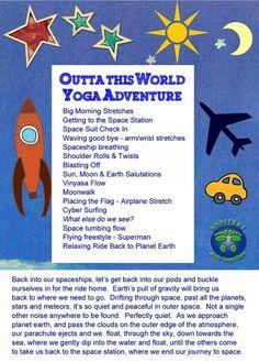 Space yoga but modify the meditation.