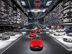 Audi Hanging City by KMS Blackspace in Frankfurt