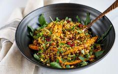 spiced quinoa roasted carrot salad