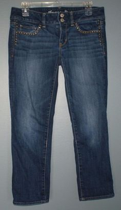 American Eagle Artist cropped stretch jeans womens size 6 regular #AmericanEagleOutfitters #CapriCropped