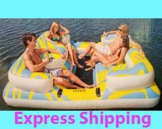 This is pretty cool! Intex Oasis Island Inflatable Lake Float Pool Water River Raft Party Tube