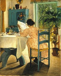 Ring, Lauritz (Danish, 1854-1933) - The Breakfast - 1898  www.metamourskincare.com