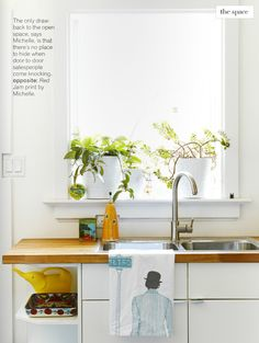 Kitchen windowsill plants | Poppytalk: Cool Decorating Trick No. 37 + Covet Garden