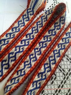 Tablet weaving pattern, design Maikki Karisto & Mervi Pasanen 2014