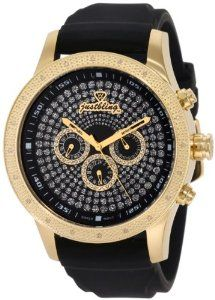 "JBW Men's JB-6239L-B ""Coliseum Sport"" Diamond Gold Bezel Black Multi-Function Dial and Silicone Watch JBW. $196.00. Black silicone band with buckle. Water-resistant to 330 feet (100 M). Gold bezel inlaid with a total of .20 ctw of genuine diamonds. Highest standard Swiss-Quartz movement. Pave dial with three black multi-function sub dials. Save 80%!"