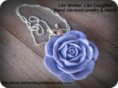 Glossy Rose Necklace  Smell the Roses by MotherDaughterJewel, $10.00