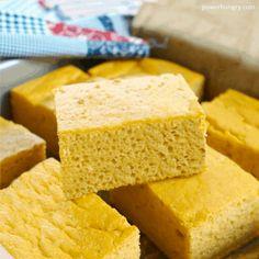 Chickpea Flour No-Corn Cornbread {vegan, grain-free, easy} Almond Flour Cookies, Cookies Vegan, Shortbread Cookies, Cornbread With Corn, Canned Pumpkin, Pumpkin Puree, Almond Recipes, Grain Free, Nut Free
