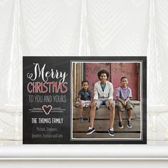 Sweetful Christmas - Christmas Cards in Black or Deep Sea Green | Fine Moments