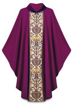 Purple Dupion Vestment with Regina orphrey $697 http://henningers.com/vestment_purple_slabbinck_2749-4.html