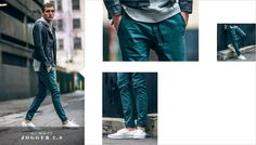Like Pacsun, many Fast Fashion companies have been selling the fad of joggers in different colors. This year many people have begun to incorporate them into their daily wear,instead of limiting it to just activewear apparel. Jogger pants also helps make legs look seemingly longer.  Yu-An Chen