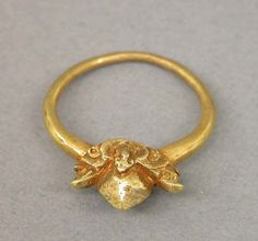 +Ring with Pyramid Shaped Bezel. Period: Central Javanese period. Date: Second half of the 8th–second half of the 10th century. Culture: Indonesia (Java). Medium: Gold.