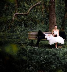 Sweet park bench couple photo idea in Central Park for your New York City Intimate Wedding