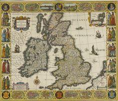 W.J. Blaeu, British Isles, 1630