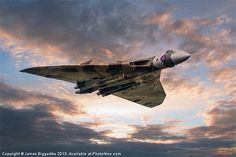 'Vulcan Bomber' Poster by Airpower Art Military Jets, Military Aircraft, Navy Aircraft, V Force, Avro Vulcan, Delta Wing, Falklands War, Aircraft Photos, Royal Air Force