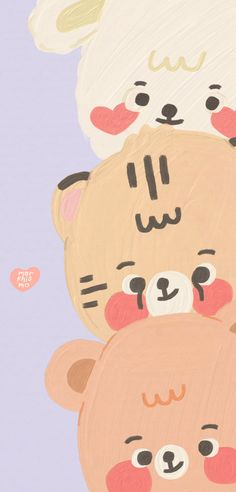 Cute Pastel Wallpaper, Soft Wallpaper, Watercolor Wallpaper, Cute Patterns Wallpaper, Bear Wallpaper, Cute Anime Wallpaper, Painting Wallpaper, Cute Cartoon Wallpapers, Wallpaper Iphone Cute