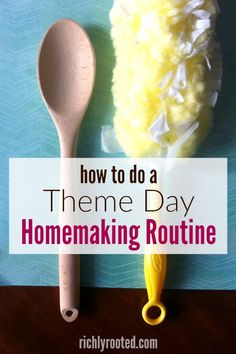 This homemaking routine rocked my world this year! Here's how to implement theme days for your homemaking routine, and how to use your daily planner to make it happen. Genius!#HomemakingRoutine #planner