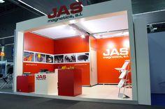Stand diseñado, construido y montado para JAS Magnetics en la BIEMH 2014
