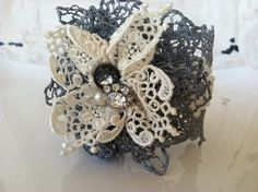 Silver Vintage Lace Cuff by StunningByDesign on Etsy, $45.00