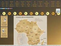 Build your own weather forecast above Africa continent using this weather webpage