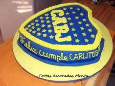 Resultado de imagen para tortas con escudos de boca Cake, Desserts, Food, Birthday Cakes, Tortilla Pie, Sweet Recipes, Deserts, Pies, Tailgate Desserts