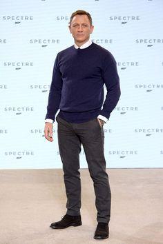 Daniel Craig at new Bond film Spectre unveiling.