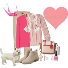 Pink Passion by suzie-v on Polyvore featuring Hollister Co., Prada, rag & bone, Reed, Michael Kors, Brooks Brothers, OPI and Mary Kay