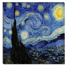 The Starry Night by Vincent Van Gogh Canvas Painting
