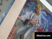 bj Gloryhole toilet blondie hardcore oral spunk shot spunk