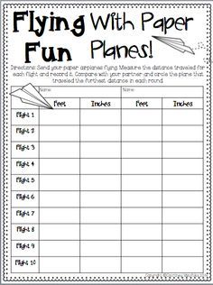 measurement activities for kids - Google Search