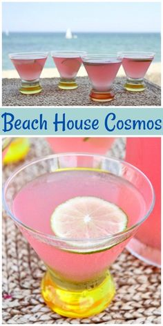 Strandhaus Cosmos - Tequila Drinks and Cocktails - Lemon Drop Shots, Party Drinks, Cocktail Drinks, Cocktail Recipes, Margarita Recipes, Coconut Margarita, Fruity Cocktails, Cocktail Ideas, Fruit Party