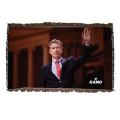 Rand paul wants to keep you warm with this blanket....