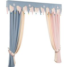 Curtain Styles For the Living Room Area - Life ideas Childrens Curtains, Kids Room Curtains, Curtain Room, Home Curtains, Modern Curtains, Colorful Curtains, Curtains With Blinds, Baby Curtains, Curtain Designs For Bedroom