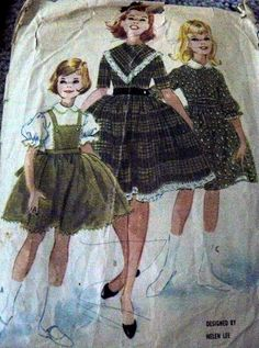 LOVELY VTG 1950s GIRLS PETTICOAT DRESS HELEN LEE Sewing Pattern 12