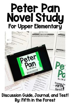 This novel study is for Peter Pan by J.M. Barrie. You'll receive a discussion guide, journal, and test for BOTH the unabridged and classic starts version of this novel. Use in small groups, whole group instruction, read alouds, literature circles, novel studies, and more! #readingjournal #writing #fifthgrade #fourthgrade #thirdgrade #figurativelanguage #imagery #inferencing #theme #visualization #pointofview #perspective #peterpan #jmbarrie #classicliterature #classicstarts Elementary Teacher, Upper Elementary, Peter Pan Novel, J M Barrie, Literature Circles, Figurative Language, Compare And Contrast, Writing Lessons, Classic Literature