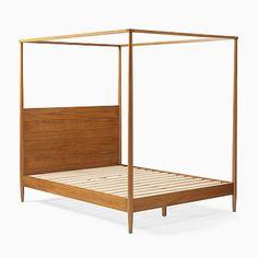 Mid-Century Canopy Bed - Acorn