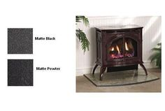 Empire Heritage Vent-Free Cast Iron Gas Stove with Porcelain Finish - Natural Gas - Propane Fireplace, Fireplace Hearth, Stone Fireplaces, Natural Gas Stove, Best Camping Stove, Tiny House Appliances, New Stove, Cast Iron Stove, Mobile Living