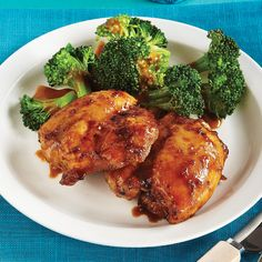 Tamari Honey Chicken with Broccoli & Almond Butter Sauce - Clean Eating - Clean Eating